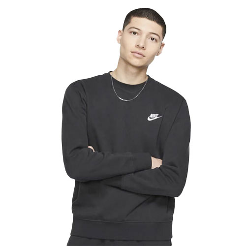 Men's Sportswear Club Crewneck Sweatshirt, Black, swatch