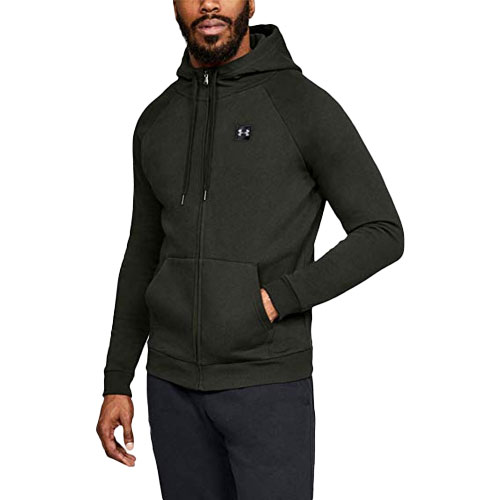 Men's Rival Fleece Full-Zip Hoodie, Dkgreen,Moss,Olive,Forest, swatch