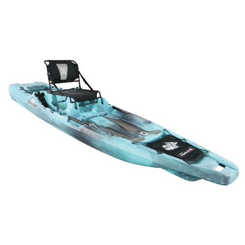 Outlaw 11.5' Fishing Kayak, Blue/Black, swatch