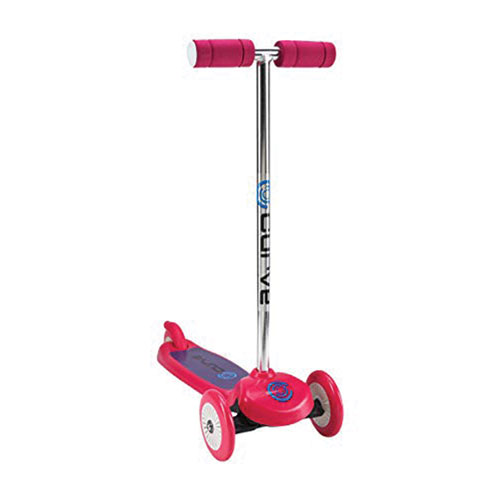 Tilt/Turn 3-wheel Scooter, Pink, swatch