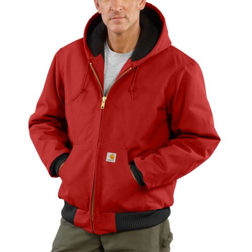 Men's Quilt Lined Active Jacket, Red, swatch