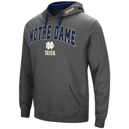 Men's Notre Dame Tackle Twill Hoodie, Charcoal,Smoke,Steel, swatch