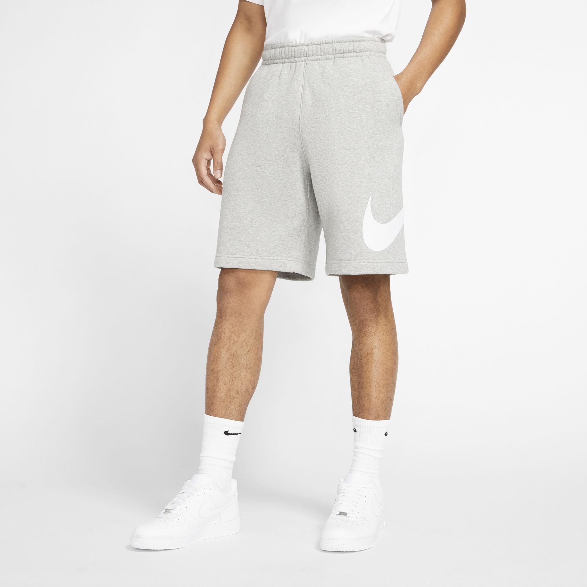 Men's Sportwear Club Graphic Shorts, Heather Gray, swatch