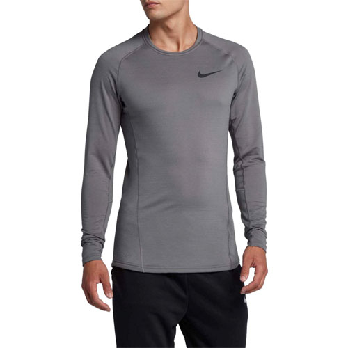 Men's Pro Therma Cold Compression Long Sleeve Shir, Heather Gray, swatch
