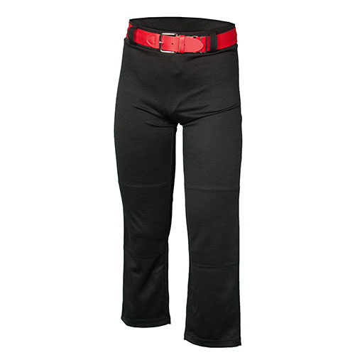 Youth Open Bottom Baseball Pant, Black, swatch
