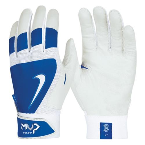 Men's MVP Edge Batting Gloves, Royal Bl,Sapphire,Marine, swatch