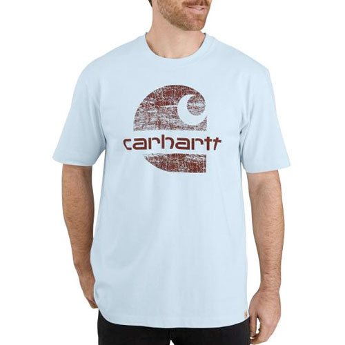 Men's Heavyweight Logo Graphic T-Shirt, Lt Ice Blue, swatch