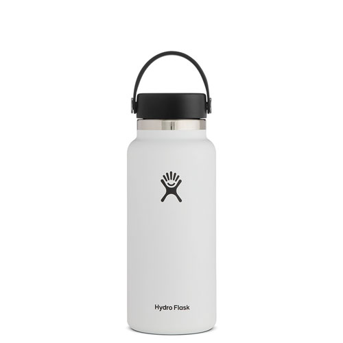 32 Oz Wide Mouth Water Bottle, White, swatch