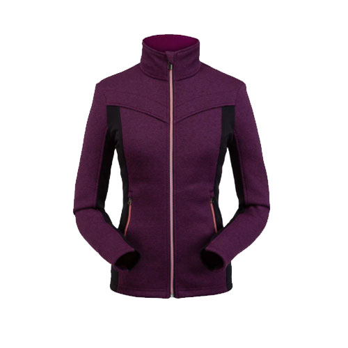 Women's Cora Full Zip Fleece, Purple, swatch
