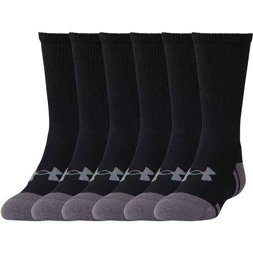 Resistor 3.0 Crew Sock 6-Pack, Black, large