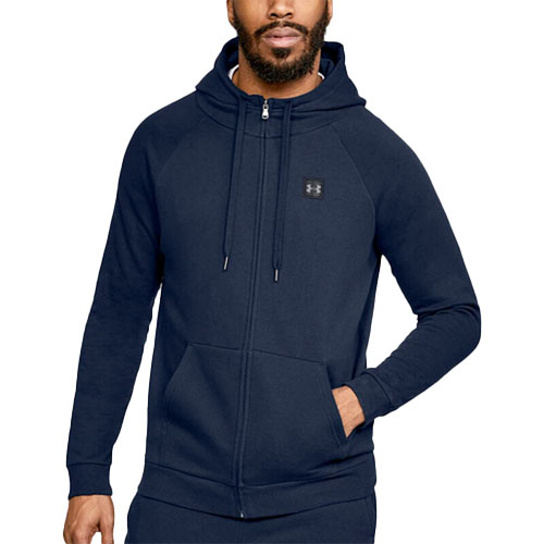 Men's Rival Fleece Full-Zip Hoodie, Navy, swatch