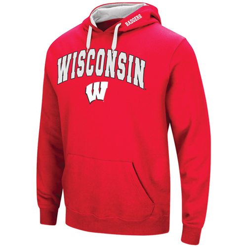 Men's Wisconsin Tackle Twill Hoodie, Team, swatch