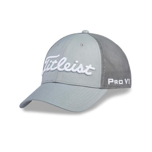 Tour Deep Back Mesh Golf Hat, Gray, swatch