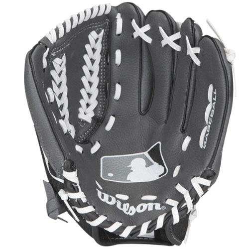 "Youth A150 MLB Series 10.5"" Baseball Glove, Gray/Black, swatch"