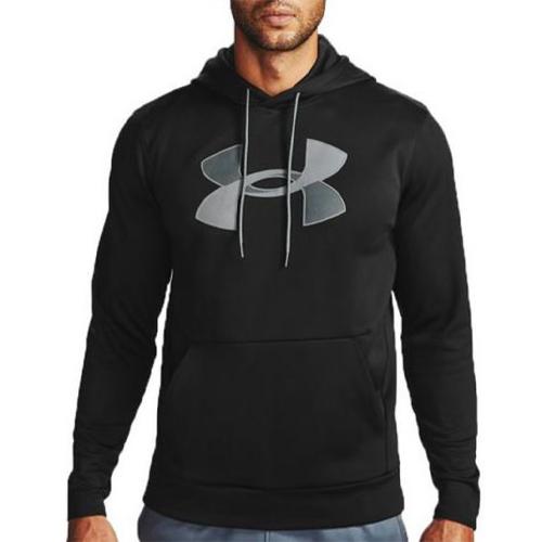Men's Armour Fleece Big Logo Hoodie, Black, swatch