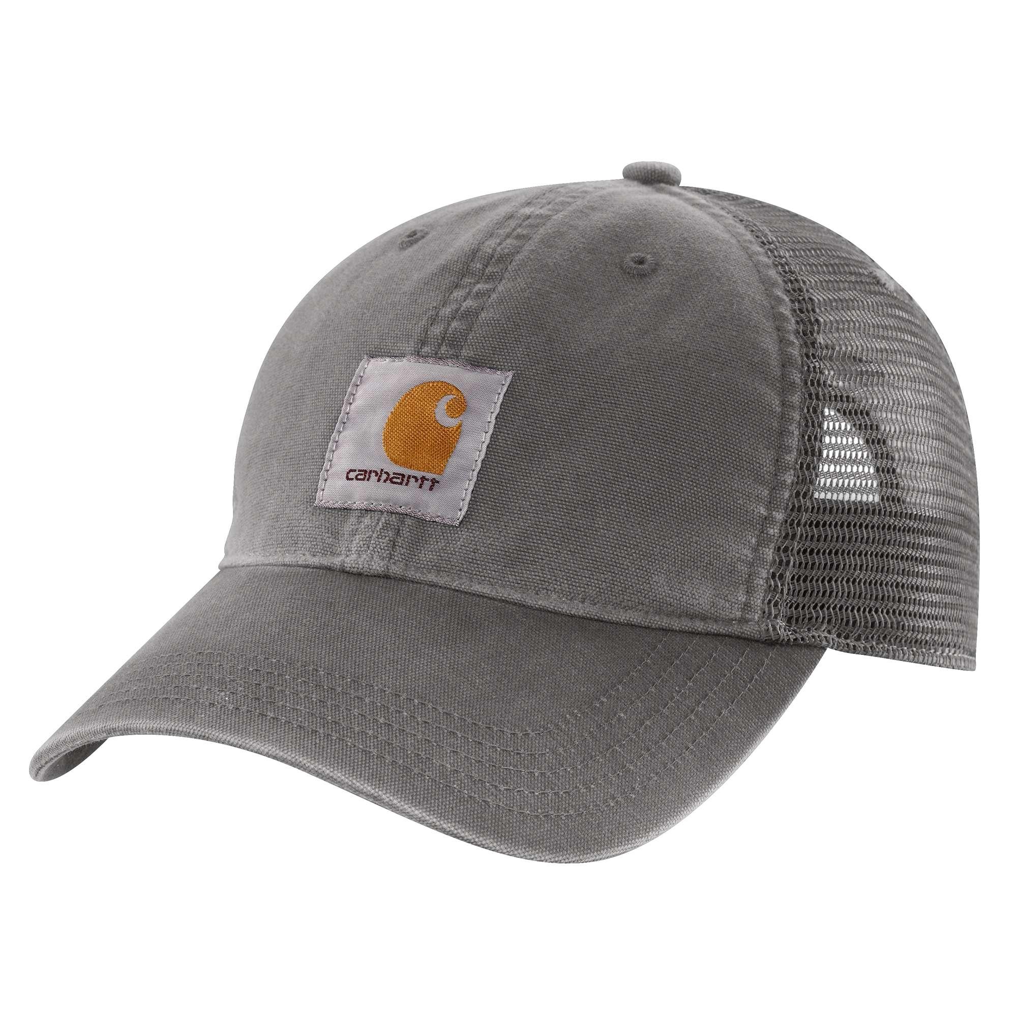M Cotton Canvas Cap, Gray, swatch