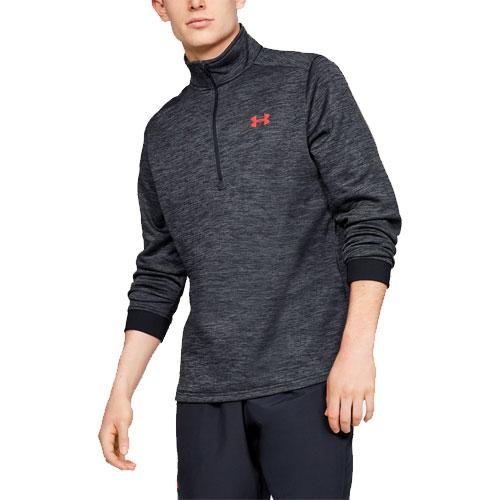 Men's Long Sleeve Armour Fleece Icon 1/4 Zip, Gray/Black, swatch
