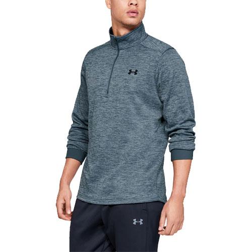 Men's Long Sleeve Armour Fleece Icon 1/4 Zip, Gray/Blue, swatch