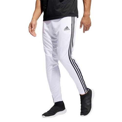 Men's Tiro Soccer Pants, White/Black, swatch