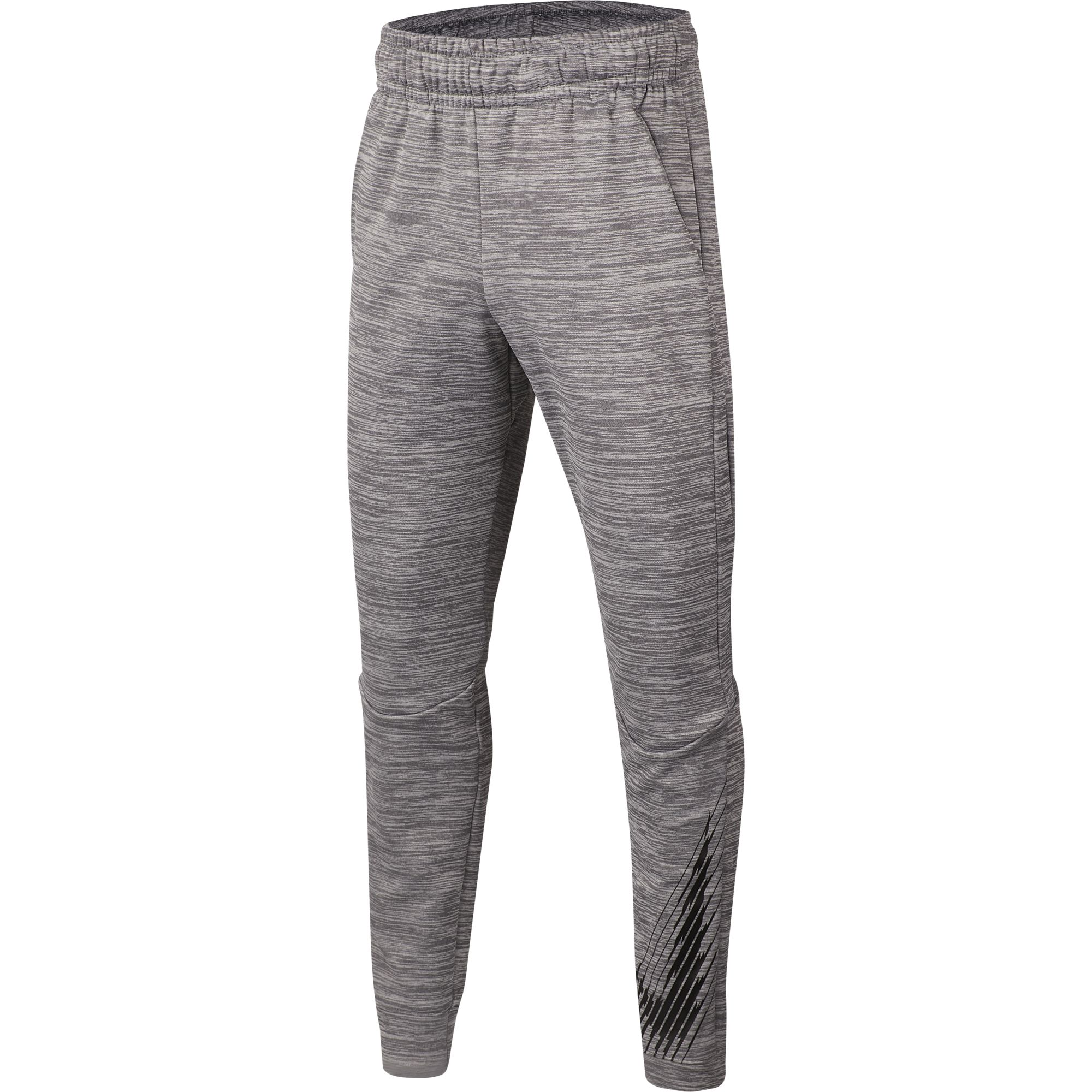 Boy's Dri-Fit Tapered Therma Fleece Pant, Charcoal,Smoke,Steel, swatch