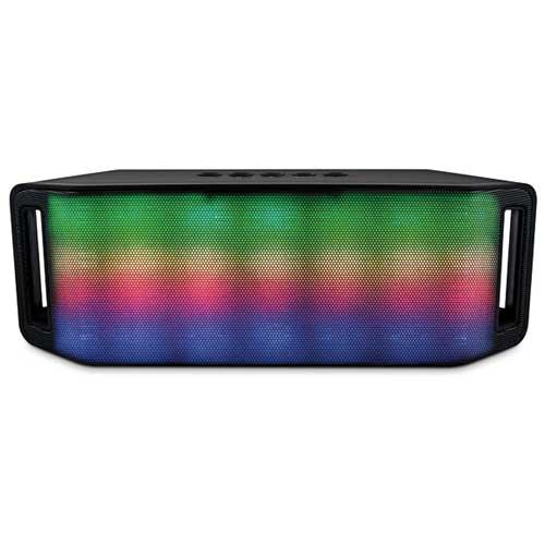 Rave Bluetooth Speaker with LED Lights, Black, swatch