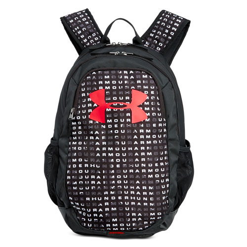 Scrimmage 2.0 Backpack, Black Pattern W/Red, swatch