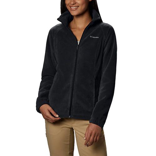 Women's Benton Springs Full Zip Fleece Jacket, Black, swatch