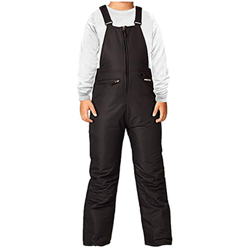 Boys' Insulated Bib Overalls, Black, large