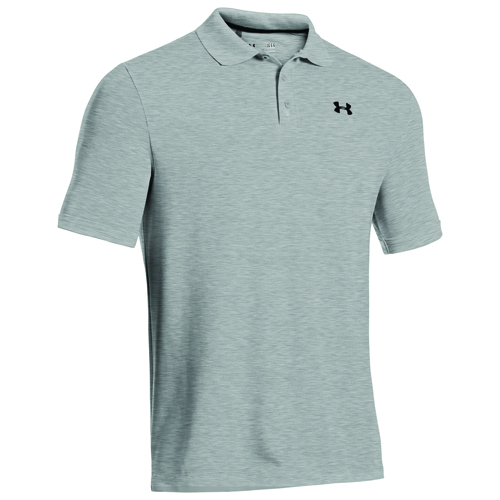 Men's Performance Polo Golf Shirt, Heather Gray, swatch