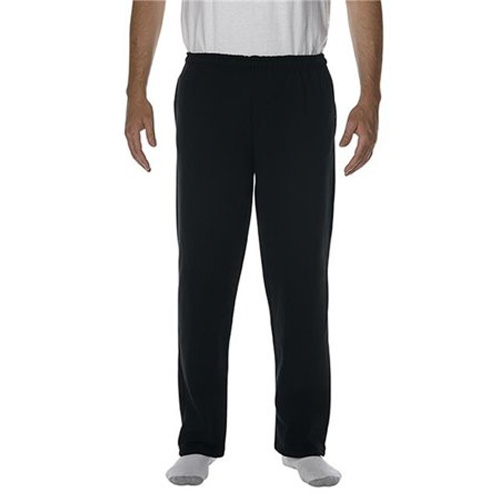 Men's Open Bottom Pocketed Sweatpants, Black, swatch