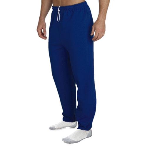 Men's Fleece Pants, Navy, swatch