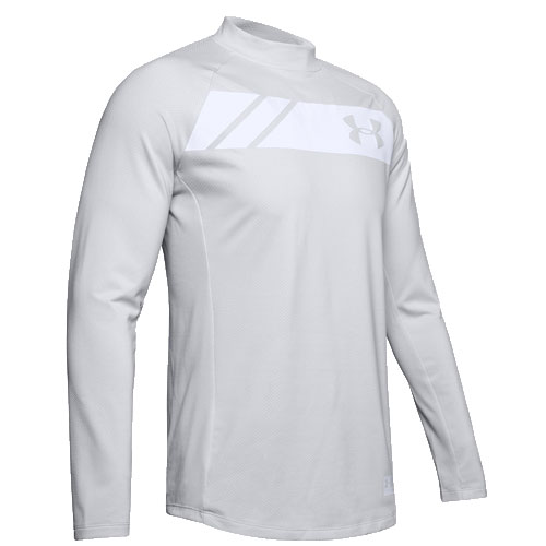 Men's Long Sleeve ColdGear Gametime Mock, Lt Gray,Dove Gray, swatch