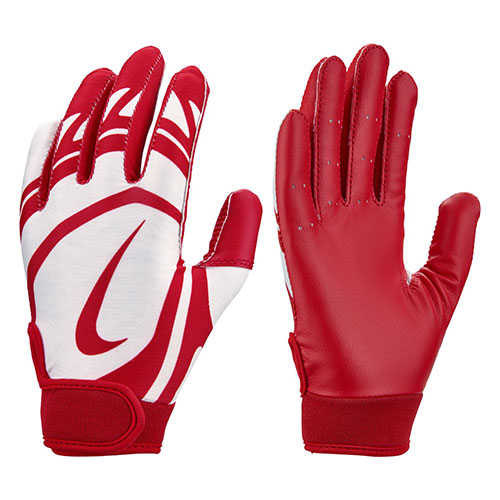 Youth T-Ball Alpha Huarache Edge Batting Gloves, Red/White, swatch