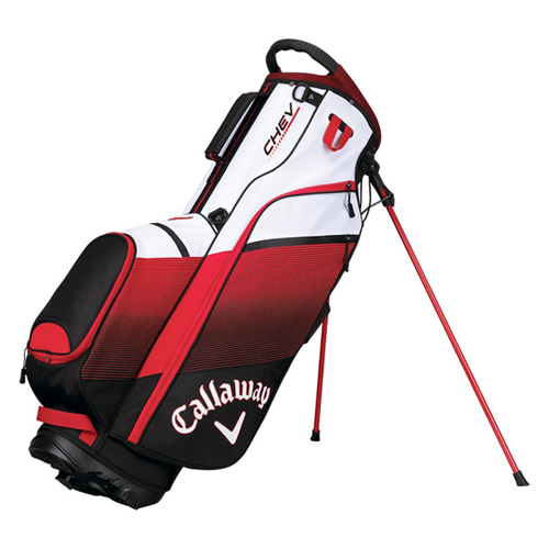 Chev Stand Bag, White/Red, swatch