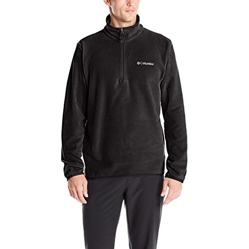 Mens Steens Mountain Half Zip Soft Fleece Jacket, Black, swatch