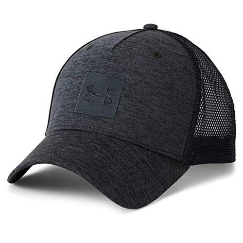 Men's Armour Twist Trucker Cap, Black, swatch