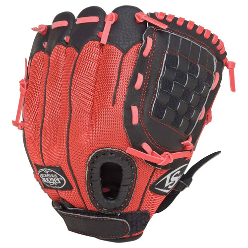 """Youth 10.5"""" Genesis Glove, Bright Red,Scarlet,Flame, swatch"""