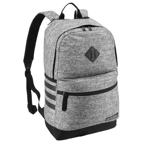 Classic 3 Stripe III Backpack, Heather Gray, swatch