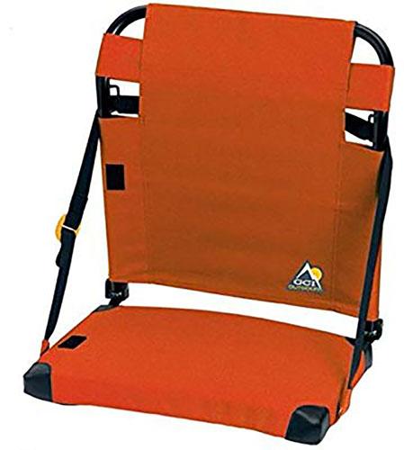 Bleacher Back Stadium Seat, Orange, swatch