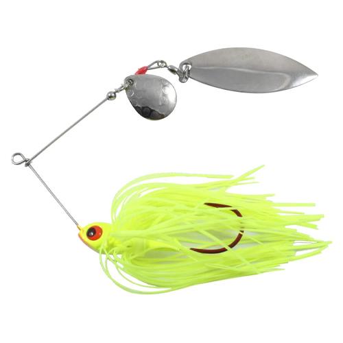 Blackbird Reed-Runner Tandem Spinner Bait, Bright Yellow,Maize,Sun, swatch