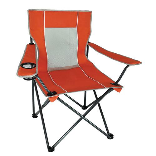 Mesh Folding Chair, Orange, swatch