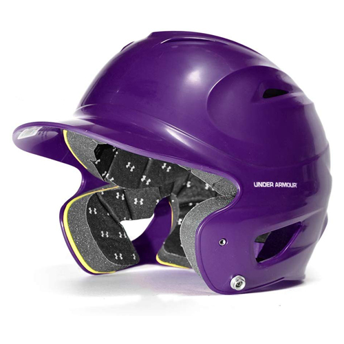 Classic Chrome Batting Helmet, Purple, swatch