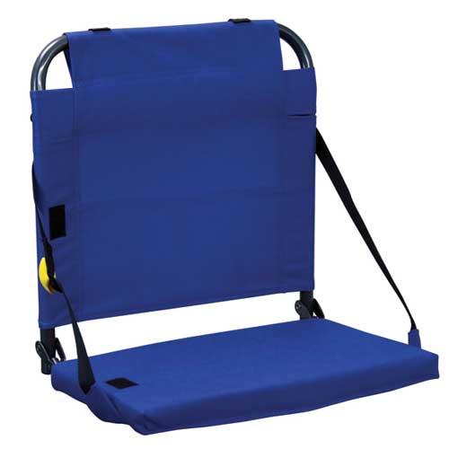 Bleacher Back Stadium Seat, Royal Bl,Sapphire,Marine, swatch