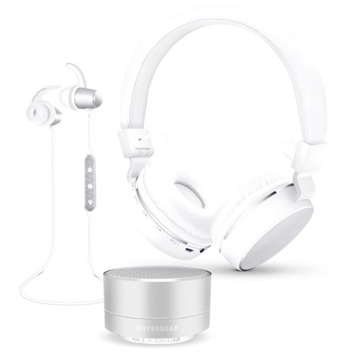 3-in-1 Wireless Bluetooth Gift Set, Silver,Chrome,Nickel, swatch