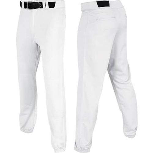 Men's Pro-Plus Closed Baseball Pants, White, swatch