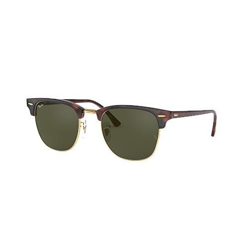 Clubmaster Classic Sunglasses, Brown/Green, swatch