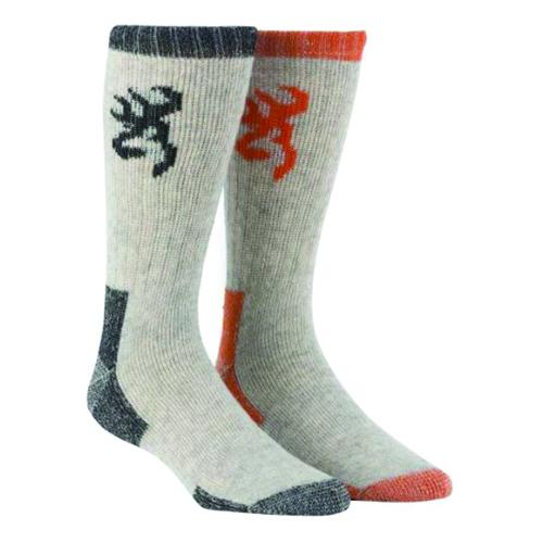 Men's Poplar Wool Boot Socks, Orange, swatch