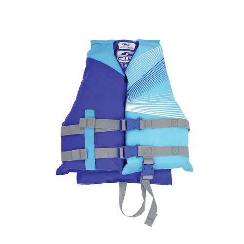 Fluid Child 3 Buckle Vest, Royal Blue/Orange, swatch