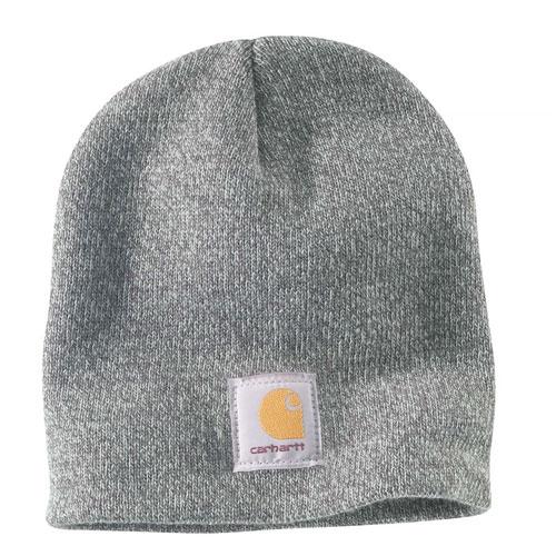 Acrylic Knit Hat, Heather Gray, swatch