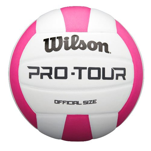Wilson Pro Tour Indoor Volleyball, Pink/White, swatch